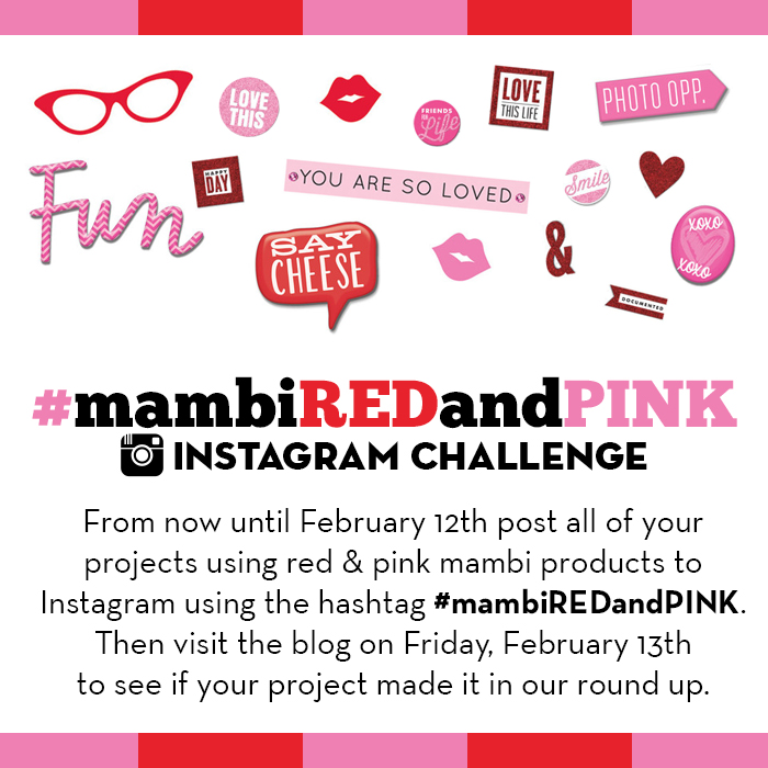 #mambiREDandPINK instgram challenge | me & my BIG ideas