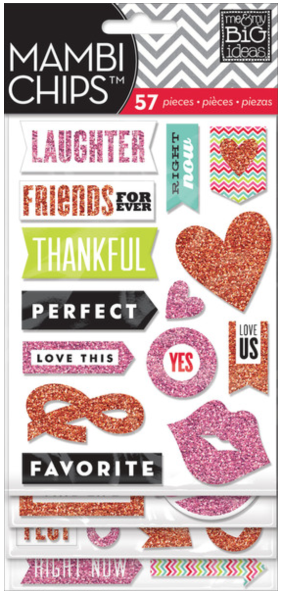 Red & Pink mambiCHIPS chipboard stickers | me & my BIG ideas