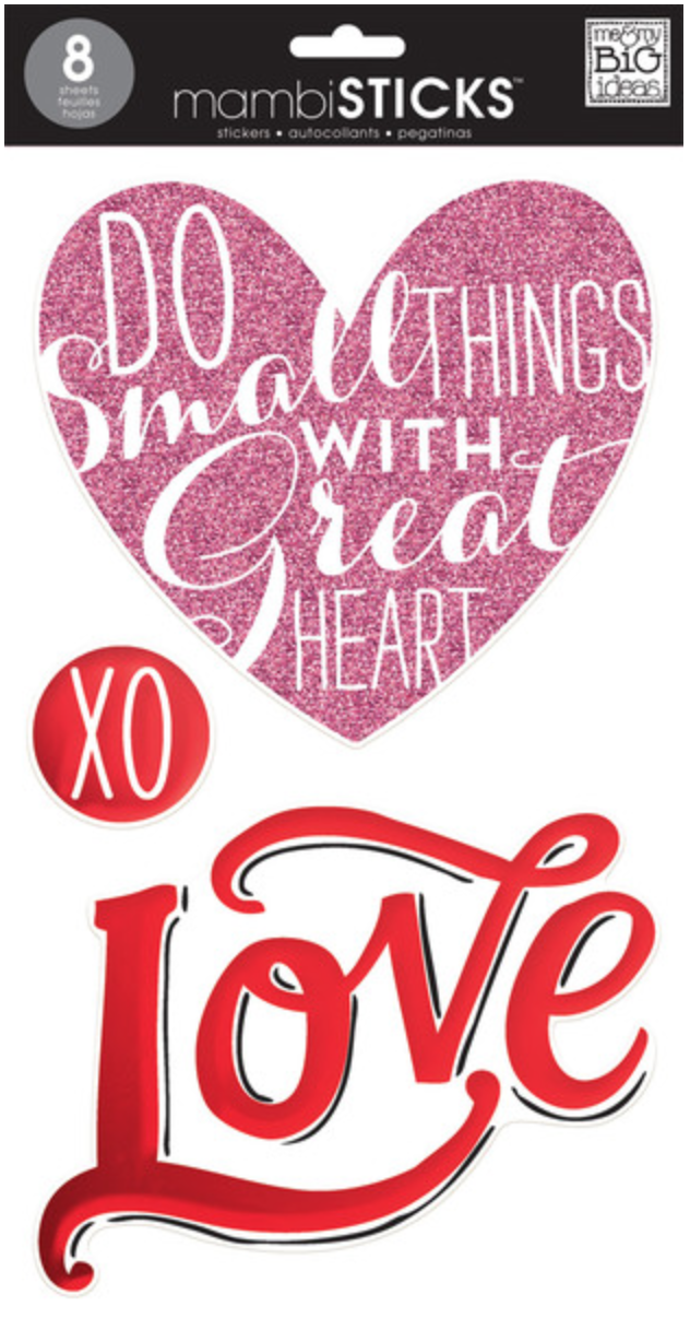 'Love' mambiSTICKS jumbo stickers | me & my BIG ideas