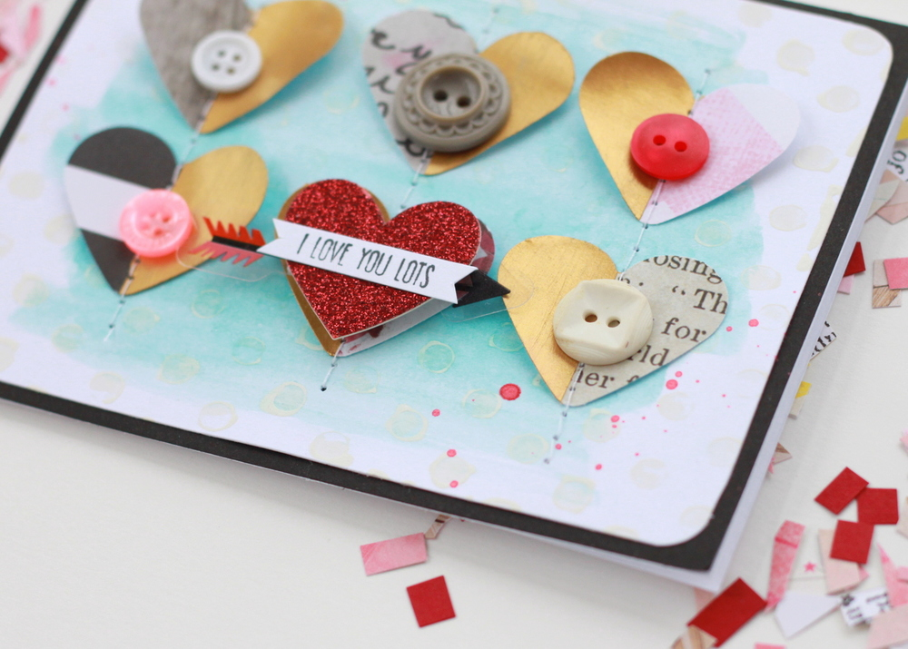 'Love You Lots' Valentine's Day card by mambi Design Team member Heather Adams | me & my BIG ideas