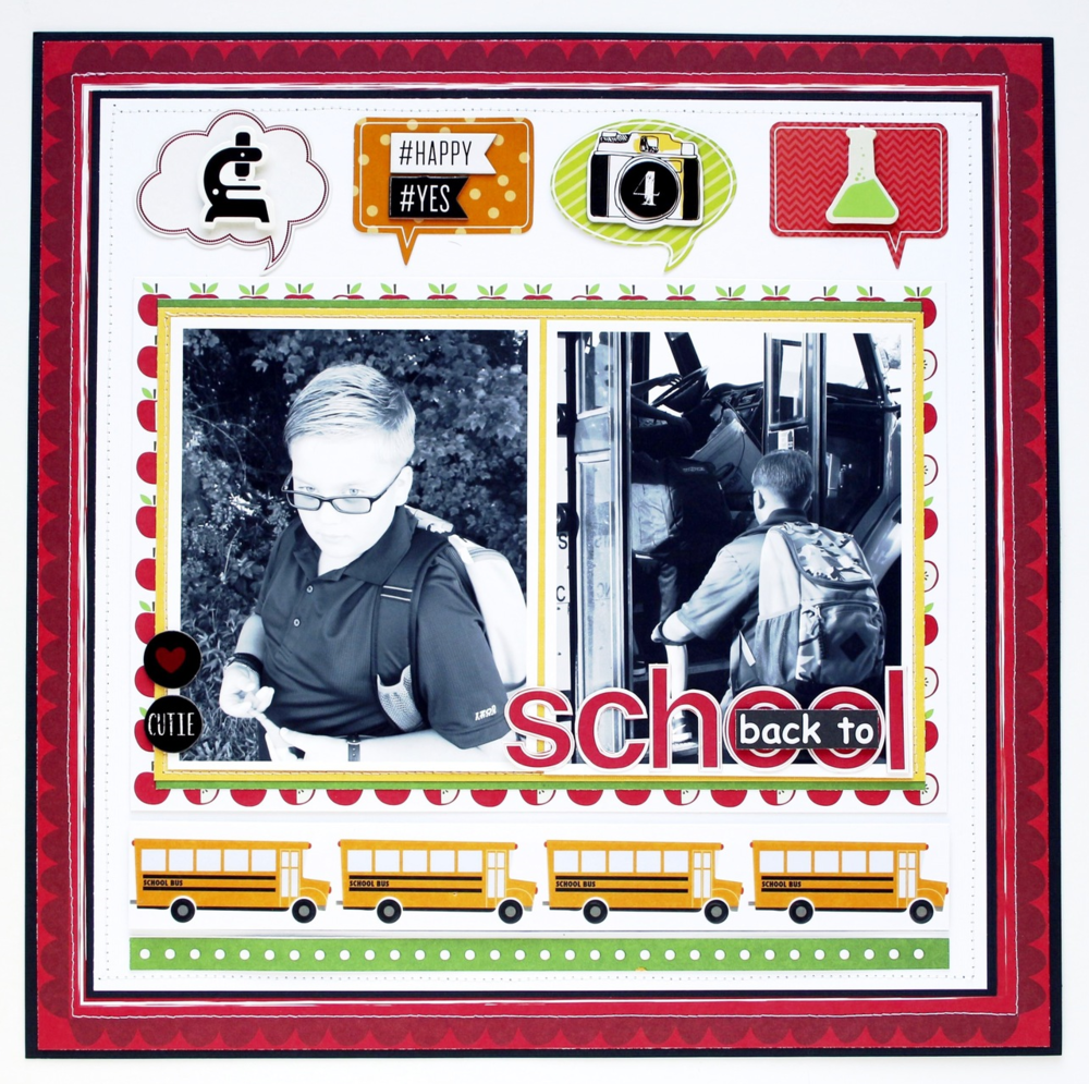 'Back to School' layout perfect after holiday break