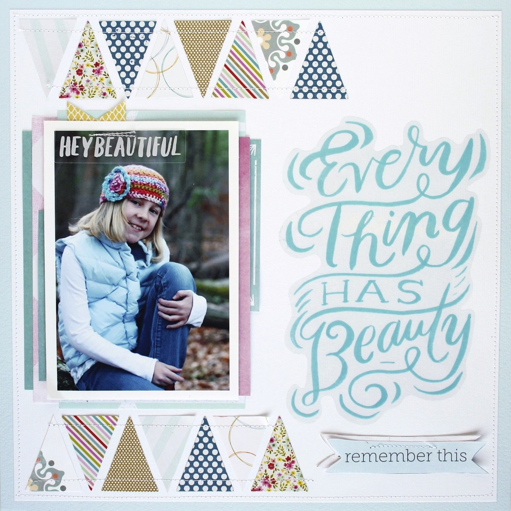 "Scrapbook Page ""Everything Has Beauty"""