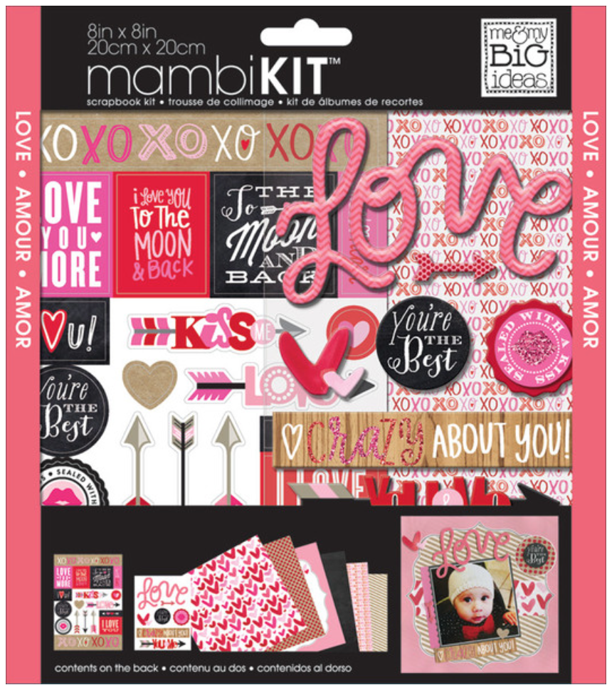 'Crazy About You' 8x8 mambiKIT scrapbooking kit | me & my BIG ideas