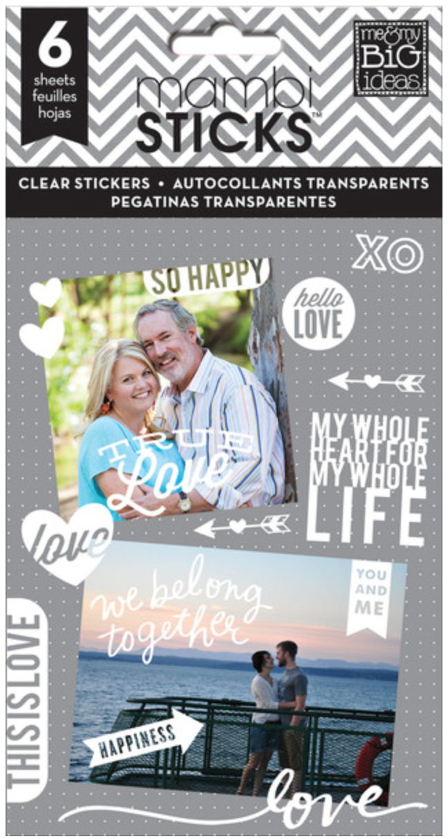 'So Happy' mambiSTICKS white clear stickers | me & my BIG ideas