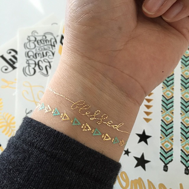 @mydocumentedlife using fancy tats™ metallic tattoos | me & my Big ideas