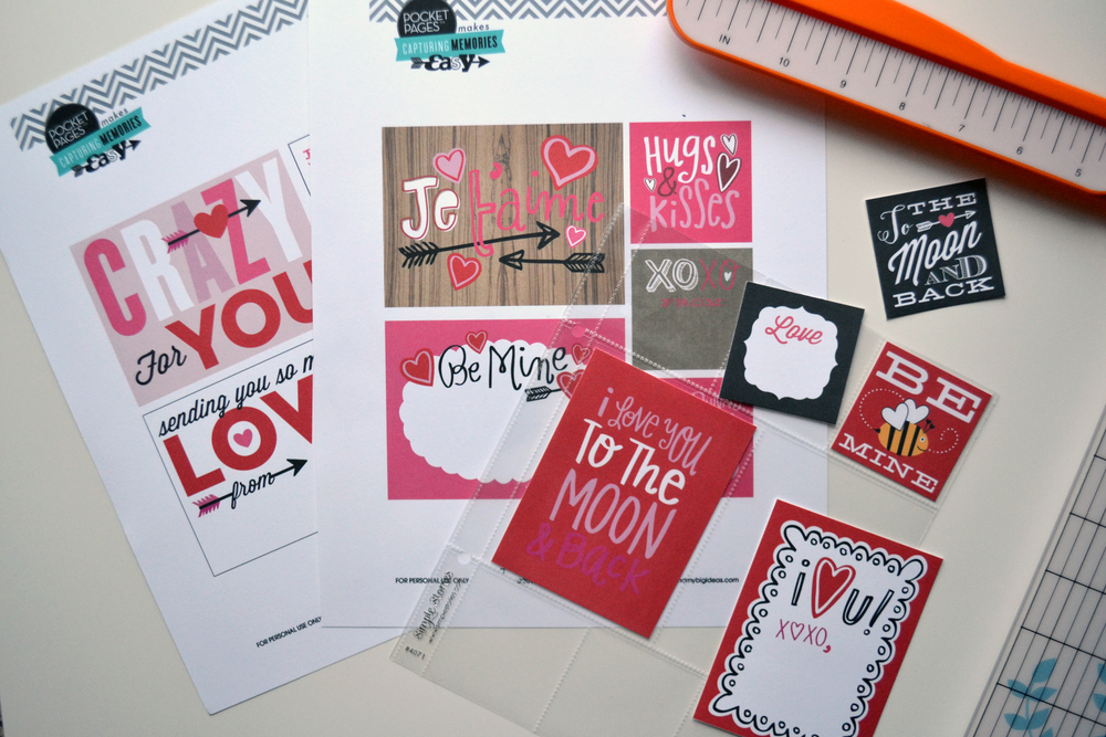 Valentine's POCKET PAGES™ Free Printables | me & my BIG ideas