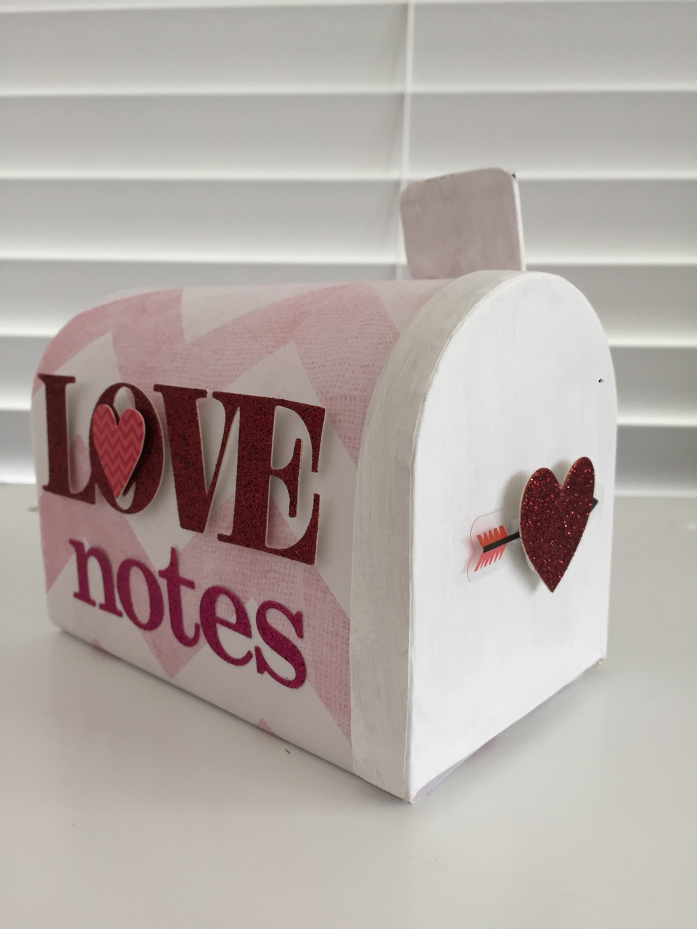 """Love Notes"" Mailbox holiday decor by mambi Design Team member Theresa Doan 