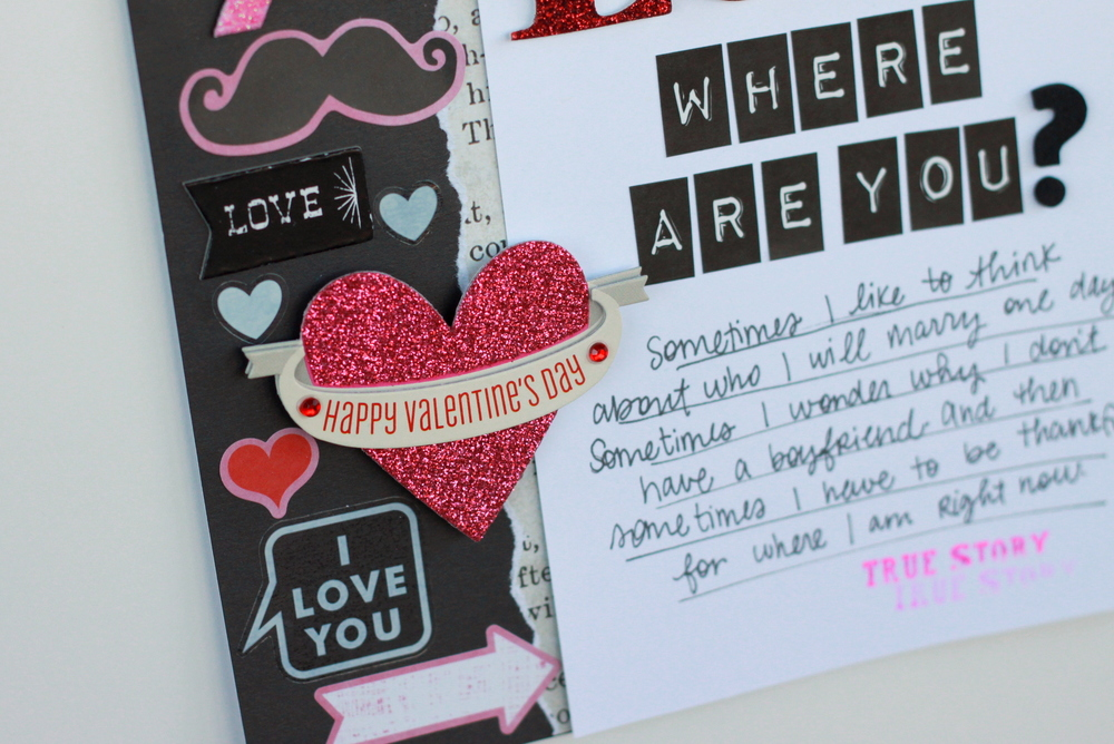 Scrapbook Page Love Where Are You Me Amp My Big Ideas