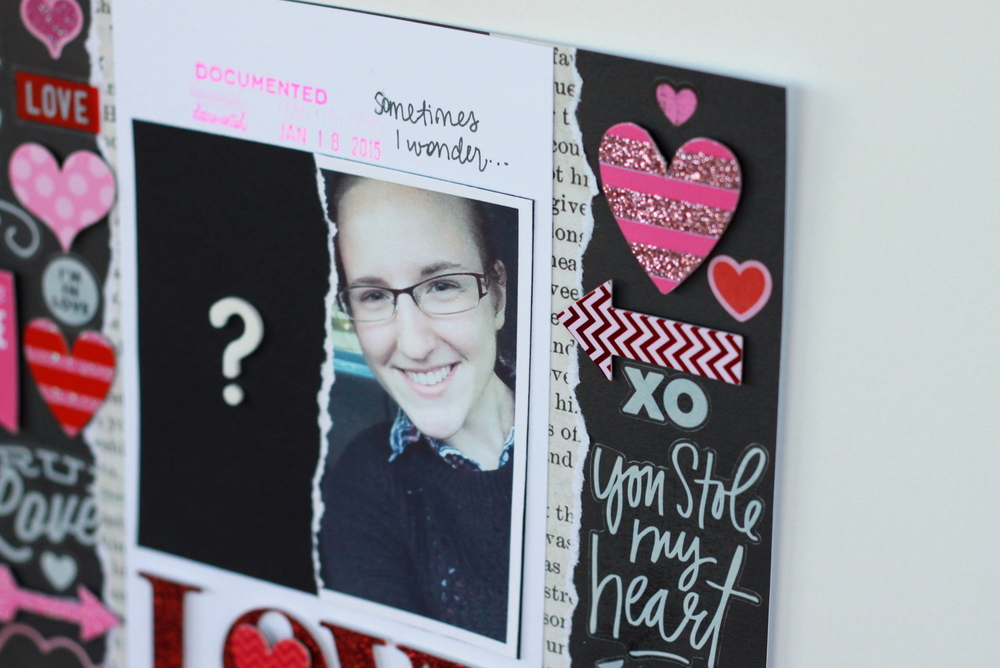 'Love Where Are You?' scrapbook page by mambi Design Team member Heather Adams | me & my BIG ideas
