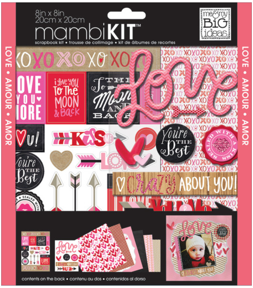 'Crazy About You' 8x8 Valentine's Day Scrapbook mambiKIT | me & my BIG ideas