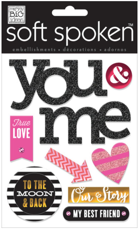 'True Love' SOFT SPOKEN™ Valentine's Day stickers | me & my BIG ideas