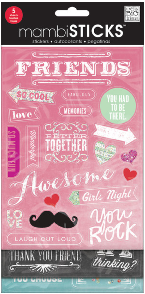 'Friends' Chalkboard mambiSTICKS Value Pack | me & my BIG ideas