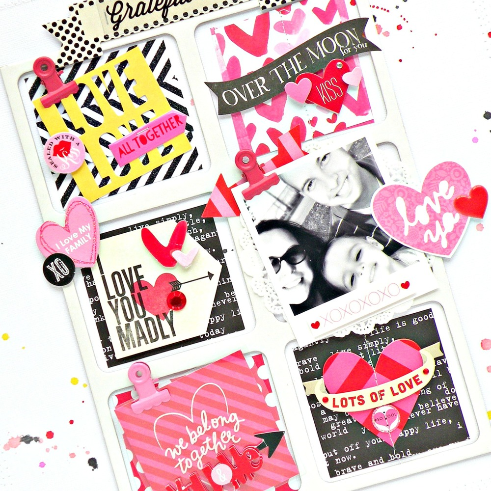 'Grateful Heart' Valentine's Day scrapbook page by mambi Design Team member Stephanie Buice | me & my BIG ideas