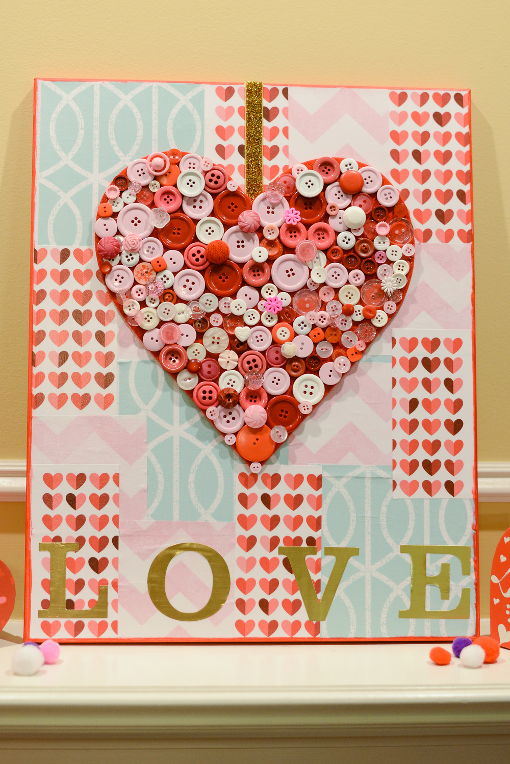 'LOVE' Valentine's Day mambiSHEETS canvas by mambi Design Team member Latrice Murphy | me & my BIG ideas