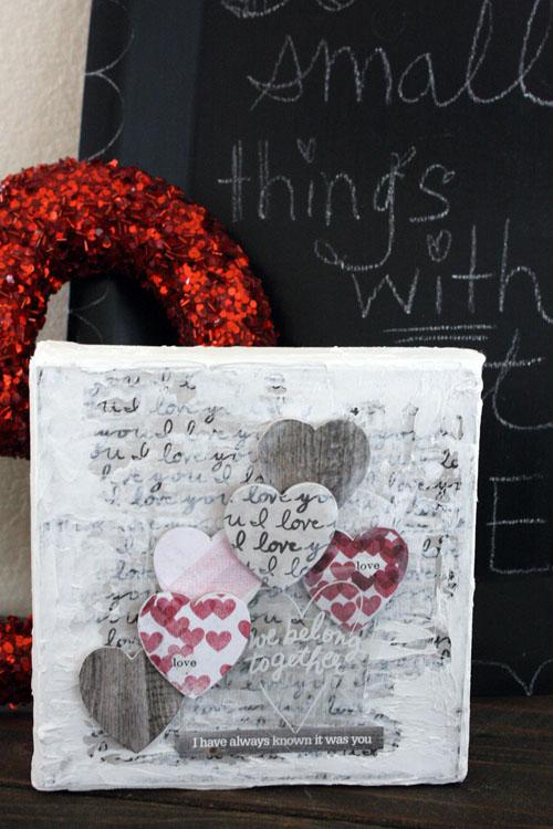 romantic mixed media canvas by mambi Design Team member Jen Randall | me & my BIG ideas