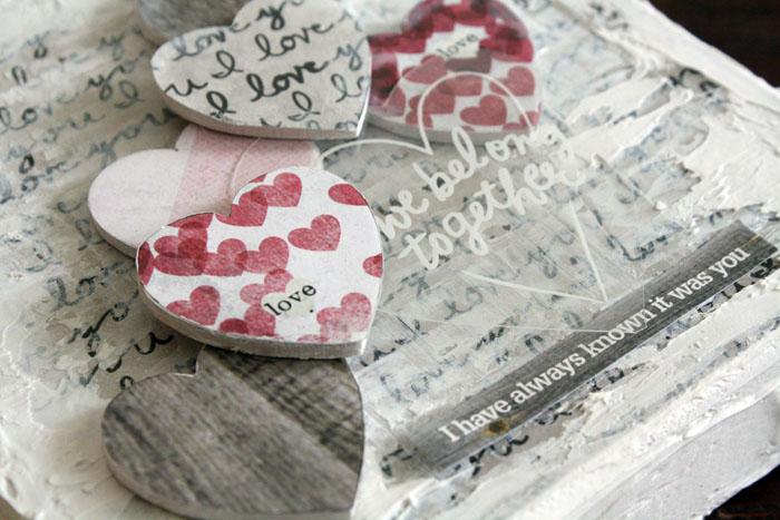 romantic mixed media canvas by mambi Design Team member Jen Randall | me & my BIG ideas