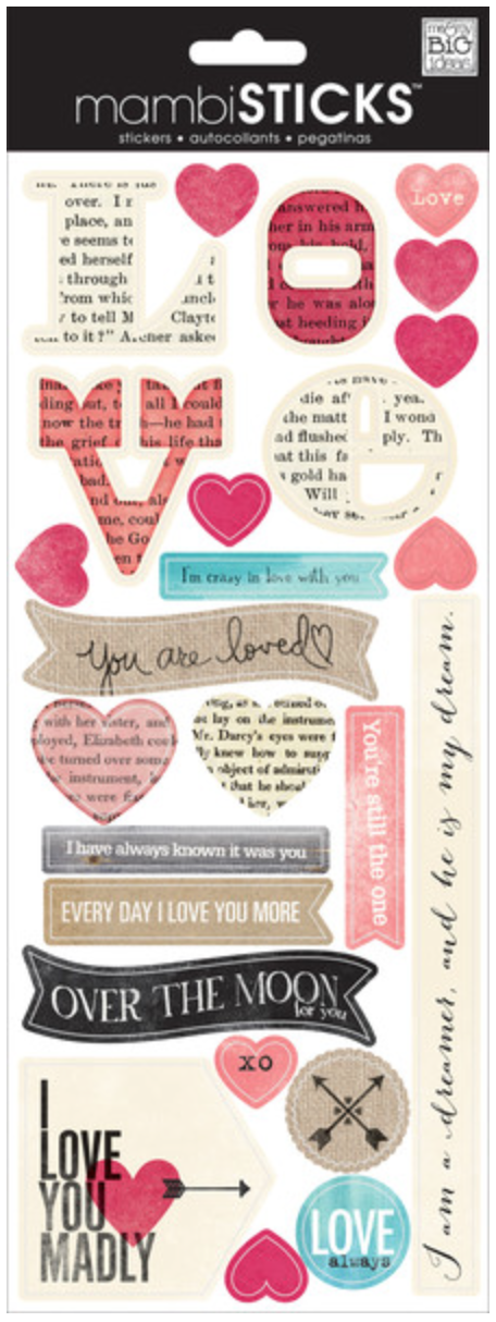 'I Love You Madly' Valentine's mambiSTICKS | me & my BIG ideas