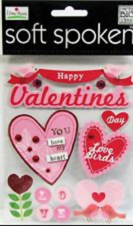'Happy Valentine's Day' SOFT SPOKEN™ stickers | me & my BIG ideas