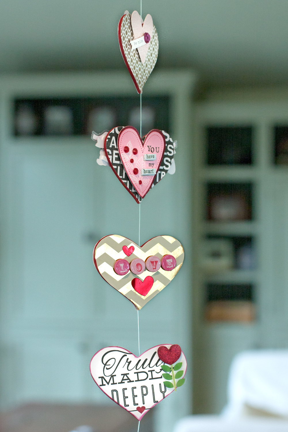 Valentine's Day Garland by Alice Golden | me & my BIG ideas in collaboration with Hobby Lobby