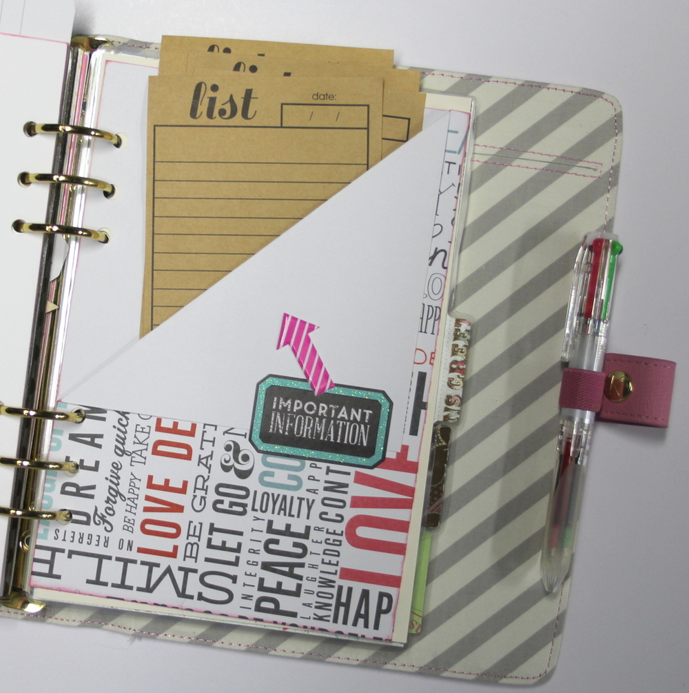 'Today is the Best Day' planner pages by mambi Design Team member Candi Billman | me & my BIG ideas