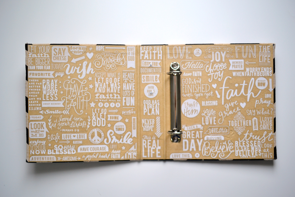 an inside cover full of mambiSTICKS in Amanda Rose Zampelli's POCKET PAGES™ album | me & my BIG ideas