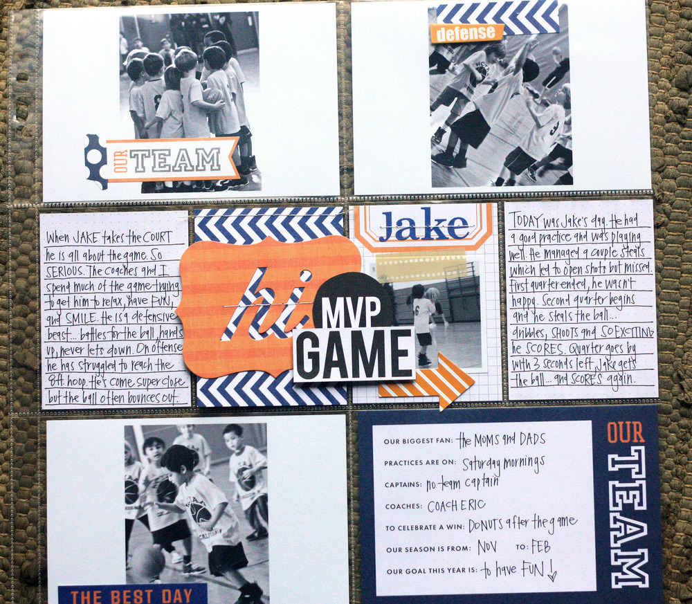'hi MVP Game' POCKET PAGES™ layout by mambi Design Team member April Orr | me & my BIG ideas