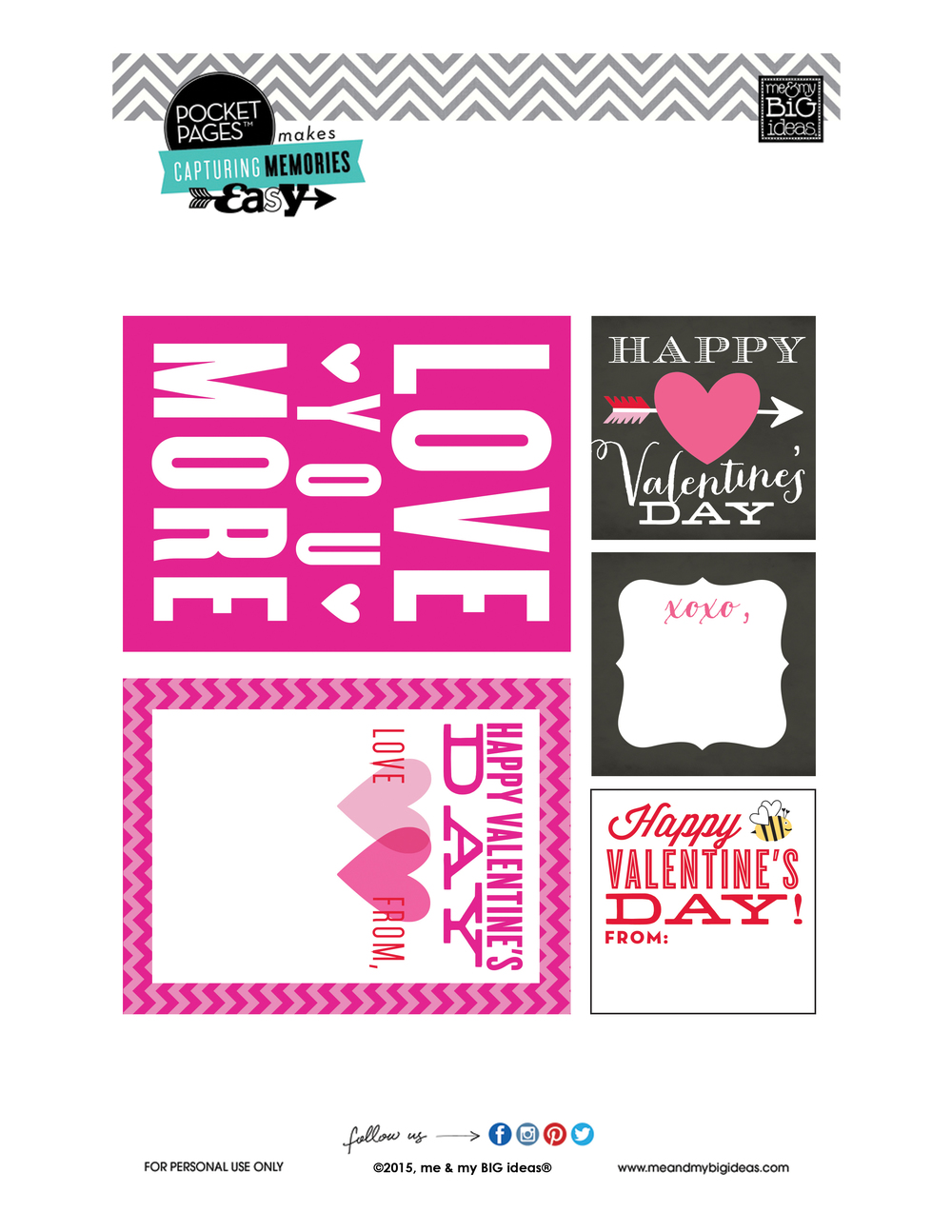 Valentine's POCKET PAGES™ Free Printable 04 | me & my BIG ideas