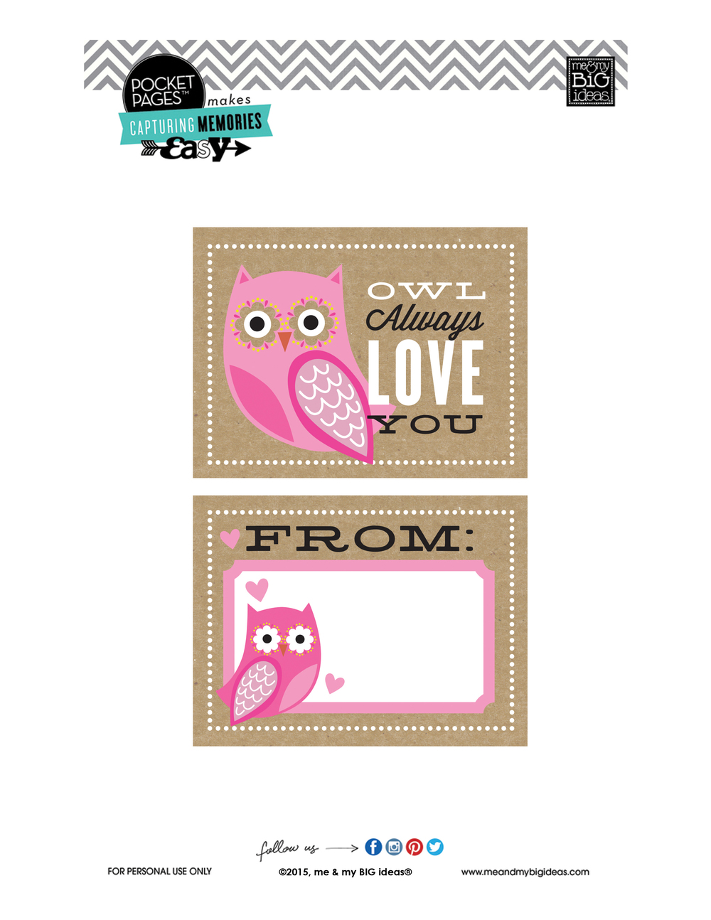 Valentine's POCKET PAGES™ Free Printable 05 | me & my BIG ideas