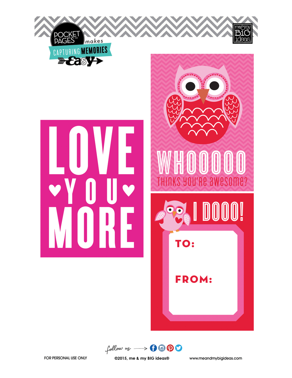 Valentine's POCKET PAGES™ Free Printable 06 | me & my BIG ideas