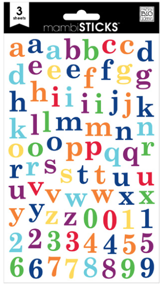 Lowercase Primary mambiSTICKS alphabet stickers | me & my BIG ideashttp://www.containerstore.com/shop/giftPackaging/stickers?productId=10035974&N=80718