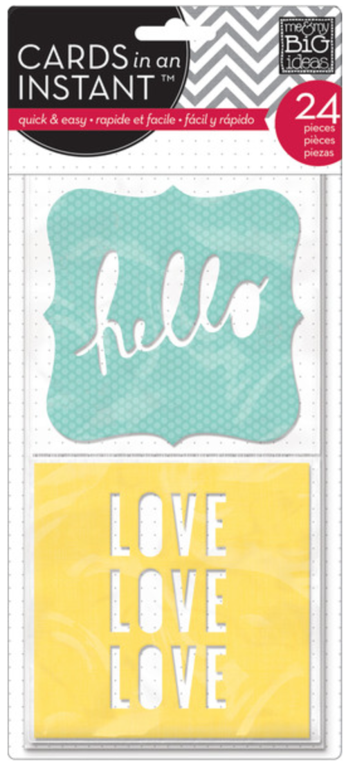 'Hello, Love' CARDS in an INSTANT™ die cut cards | me & my BIG ideas
