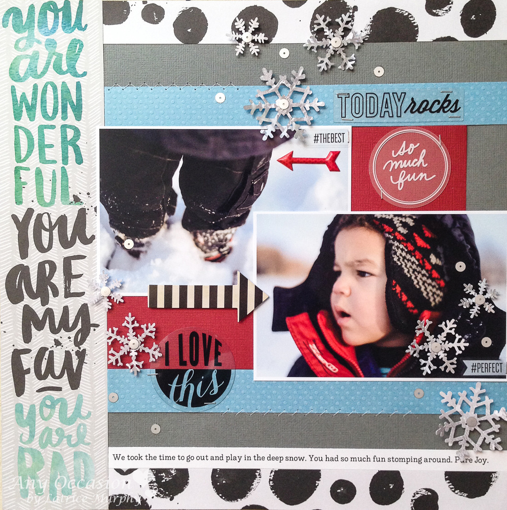 'Today Rocks' scrapbook page by mambi Design Team member Latrice Murphy | me & my BIG ideas