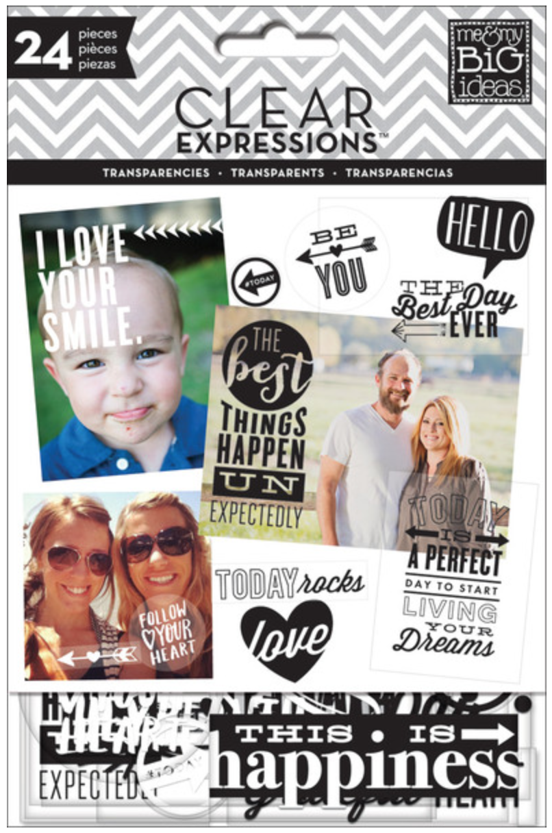 Black & White Clear Expressions transparencies | me & my BIG ideas