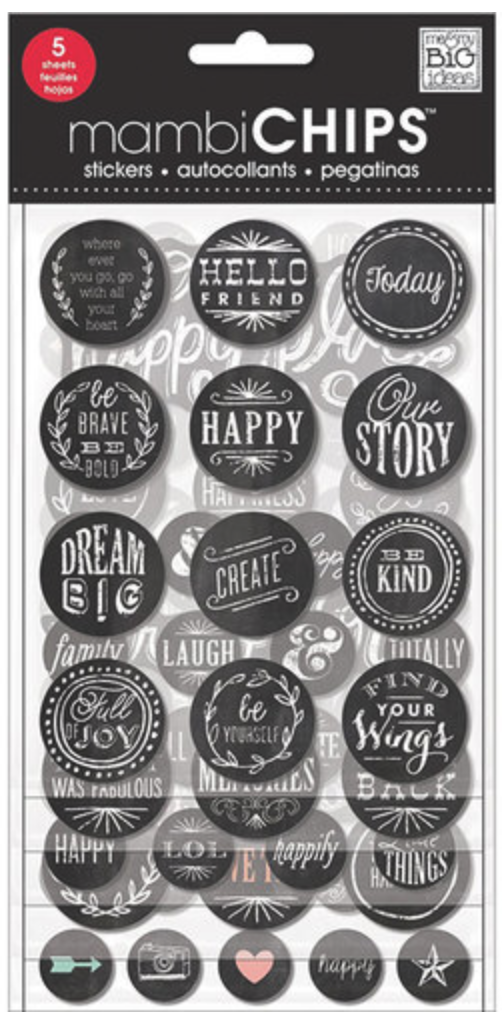 'Hello Friend' mambiCHIPS chipboard stickers | me & my BIG ideas