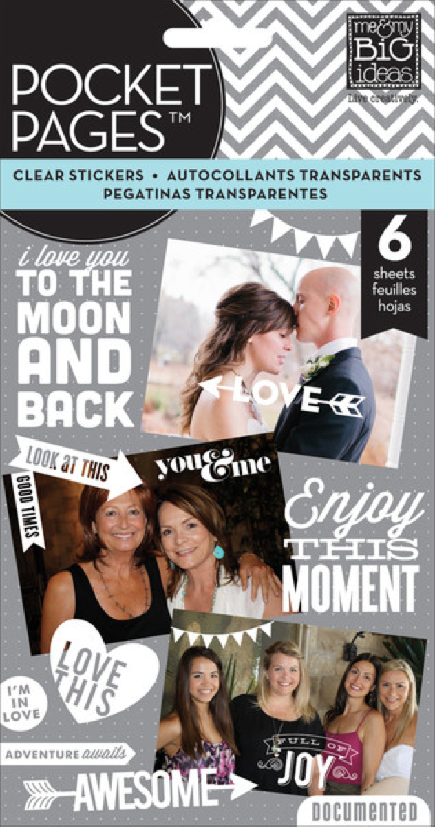 'Enjoy This Moment' POCKET PAGES™ clear white mambiSTICKS | me & my BIG ideas