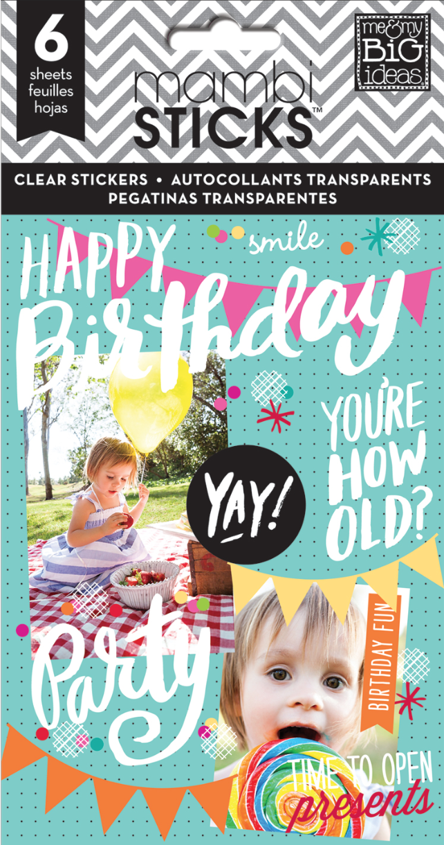 'Happy Birthday' mambiSTICKS pack | me & my BIG ideas