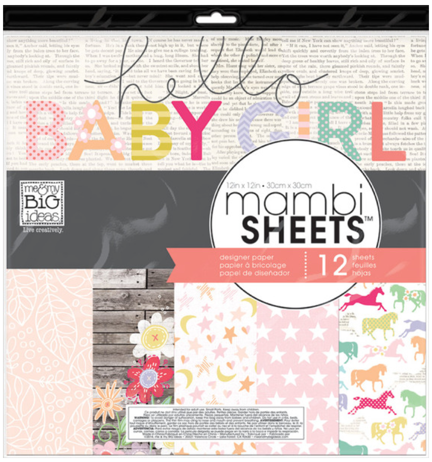 'Sweet Baby Girl' 12x12 mambiSHEETS designer papers | me & my BIG ideas