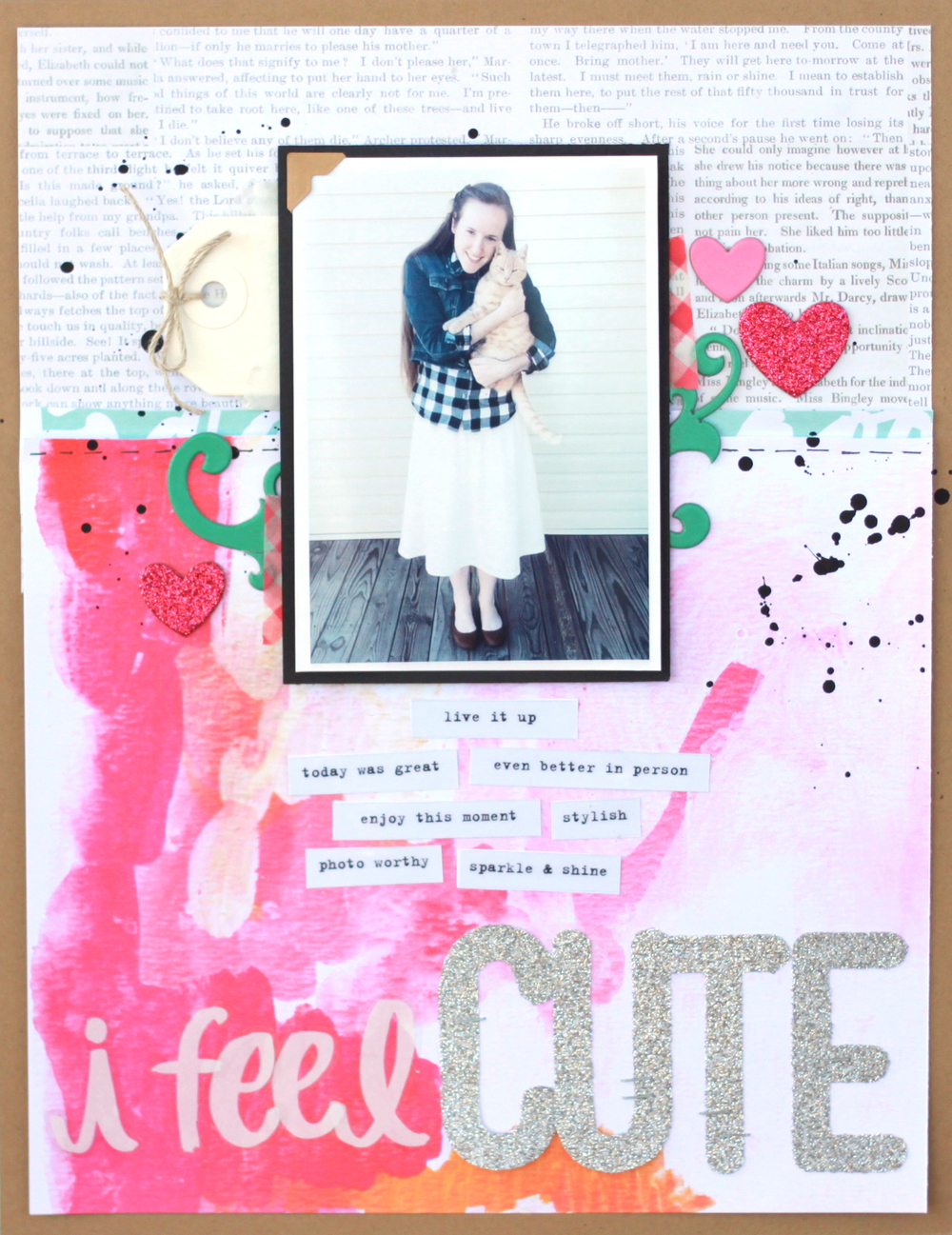 'i feel CUTE' scrapbook page by mambi Design Team member Heather Adams | me & my BIG ideas