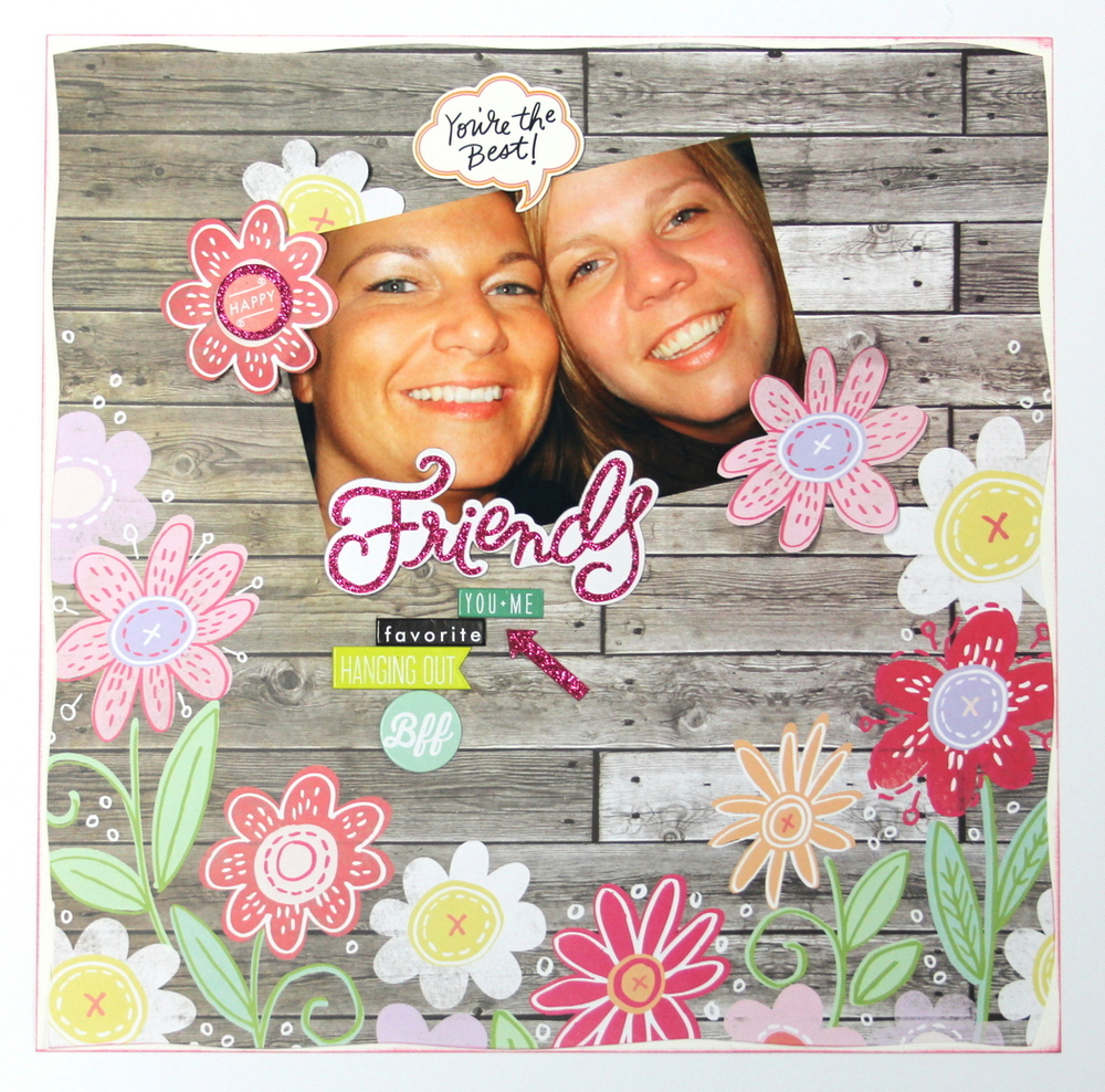 'Friends' scrapbook page by mambi Design Team member Candi Billman | me & my BIG ideas