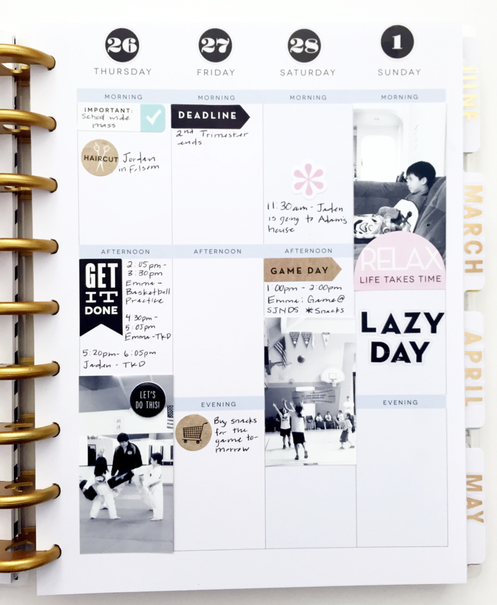 Create 365 The Happy Planner A Minimalist Spread Me