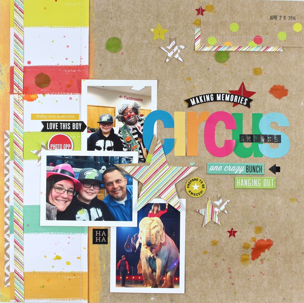 Scrapbook pages circus adventure me my big ideas - Scrapbooking idees pages ...