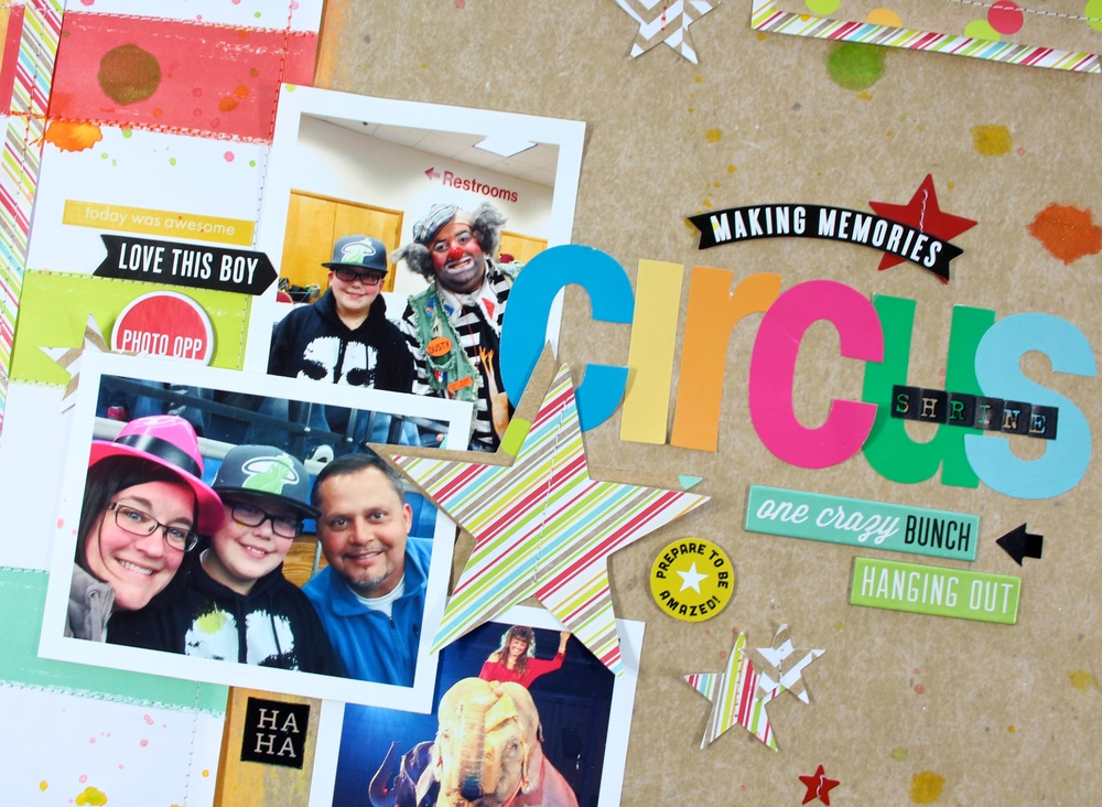 'Circus' scrapbook page by mambi Design Team member Mary-Ann Maldonado | me & my BIG ideas