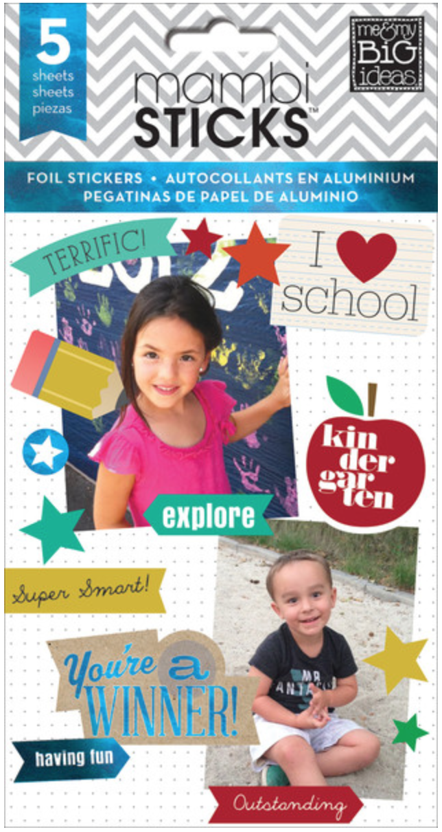 'I Heart School' mambiSTICKS sticker pad | me & my BIG ideas