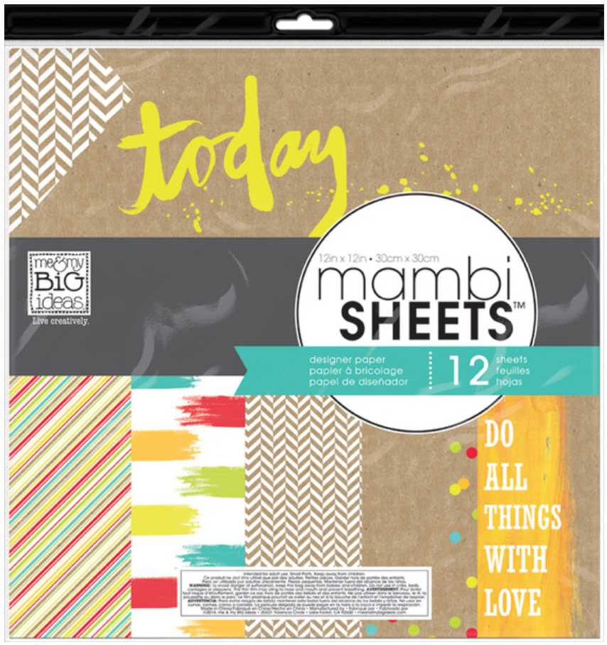 'Color Pop' 12x12 mambiSHEETS designer paper pack | me & my BIG ideas