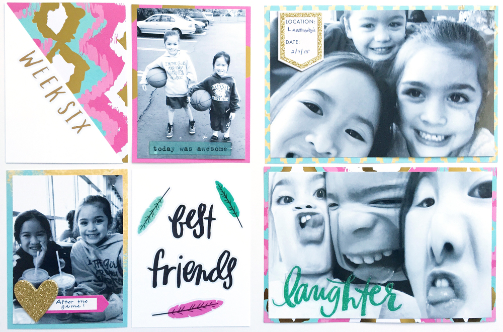 'week 6 best friends' POCKET PAGES™ layout by mambi Design Team member Theresa Doan | me & my BIG ideas