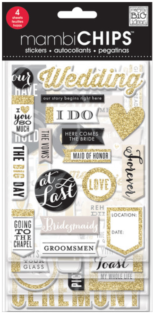 'The Big Day' mambiCHIPS chipboard stickers | me & my BIG ideas