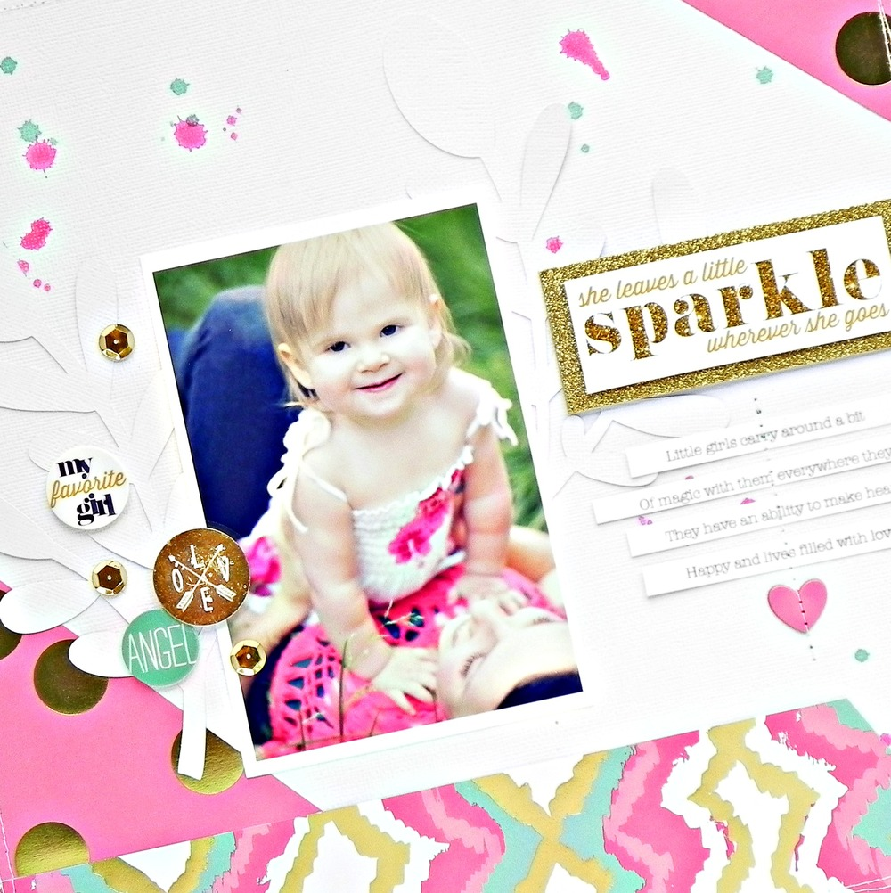 'Sparkle' scrapbook page by mambi Deisgn Team member Stephanie Buice | me & my BIG ideas