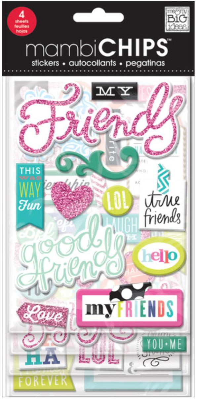 'Good Friends' mambiCHIPS chipboard sticker pack | me & my BIG ideas
