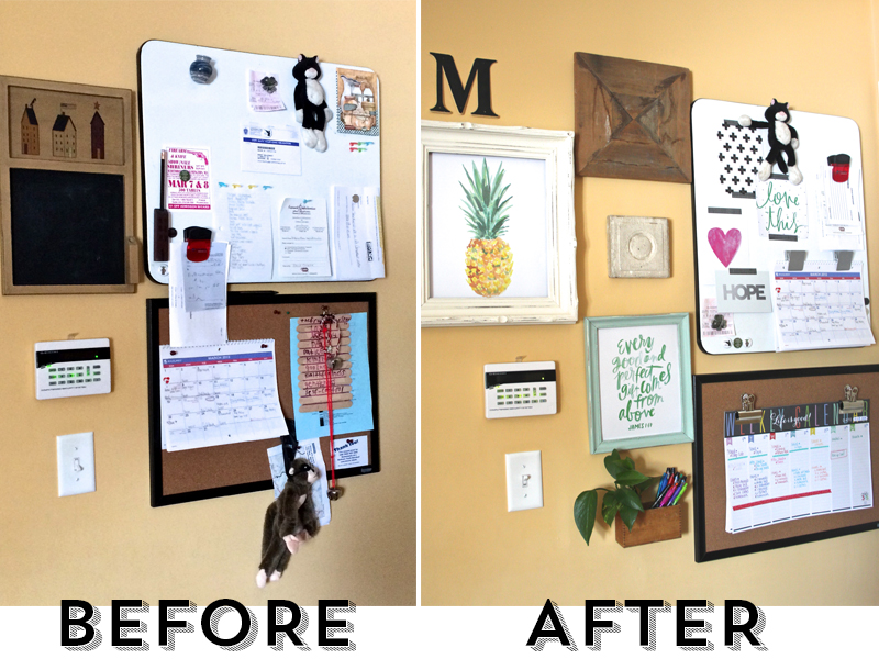 before & after entryway makeover by mambi Design Team member Mary-Ann Maldonado | me & my BIG ideas