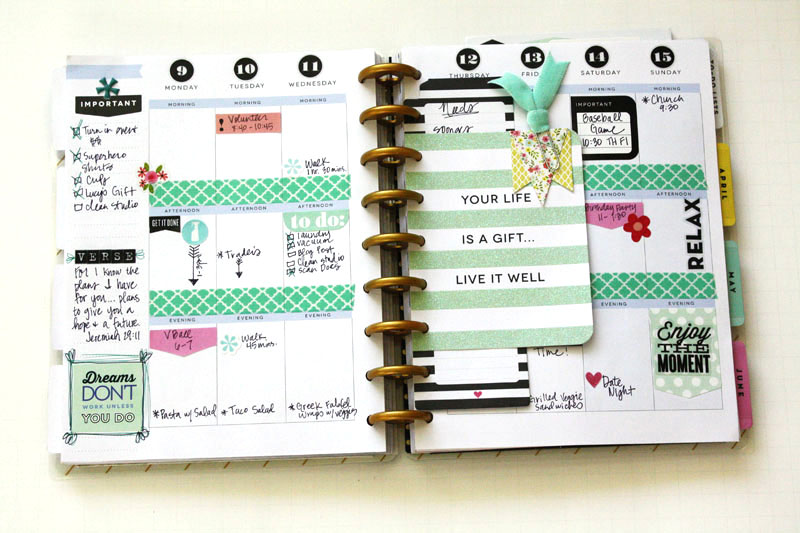 Jen randall on her create 365 the happy planner me for Happy planner ideas